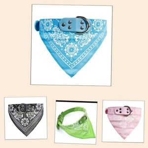 4 piece Bandana collar for small dogs and cats
